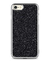 Чехол-накладка на Apple iPhone 6/6S, силикон, блестящий, с окантовкой, черный