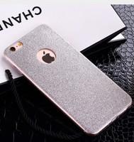 Чехол-накладка на Apple iPhone 6/6S, силикон, блестящий, с вырез., серебристый