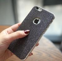 Чехол-накладка на Apple iPhone 7/8/SE2, силикон, блестящий, с вырез., черный