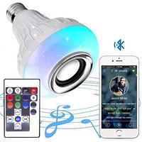 Светодиодная диско лампа Огонёк LD-122, Bluetooth, динамик 3W, RGB, управление с ПДУ и телефона