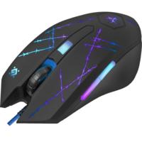 Мышь проводная, игровая, Defender Forced GM-020L, 6 кн., 3200dpi, подсветка