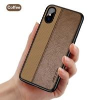Чехол-накладка на Apple iPhone 7/8 Plus, силикон, кожа, Uslion, темно-коричневый