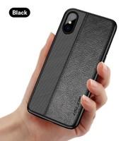 Чехол-накладка на Apple iPhone 6/6S Plus, силикон, кожа, Uslion, черный