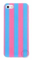 Чехол-накладка на Apple iPhone 7/8, силикон, в полоску, розово-голубой