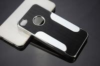 Чехол-накладка на Apple iPhone 4/4S, пластик, алюминий, серый