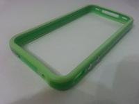 Бампер на Apple iPhone 4/4S, силикон, пластик, зеленый