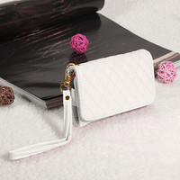 Чехол-бумажник универсальный, иск кожа, 4,5'', белый