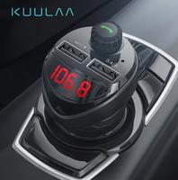 FM-модулятор, Kuulaa BT2U, Bluetooth, 2xUSB/microSD, вольтметр, черный