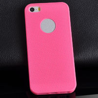Чехол-накладка на Apple iPhone 6/6S, силикон, сетка, розовый