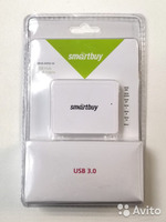 USB-хаб 3.0, Smart Buy SBHA-6000-W, 4 порта, белый