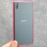 Чехол-накладка на Sony Xperia Z2 пластик, розовый