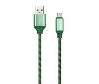 Кабель для iPhone 8pin, Smartbuy iK-512FL, TPE оплетка, зеленый, 1м
