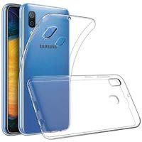 Чехол-накладка на Samsung A20 (A205) (2019) силикон, ультратонкий, прозрачный