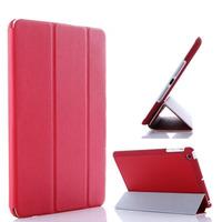 Чехол Smart-cover для Apple iPad mini 1,2,3, полиуретан, текстурированный, красный
