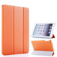 Чехол Smart-cover для Apple iPad mini 1,2,3, полиуретан, текстурированный, оранжевый