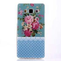 Чехол-накладка на Samsung A3 силикон, цветы