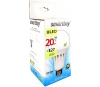 Светодиодная лампа, SmartBuy, ШАР-A80, E27, 20W, 3000K