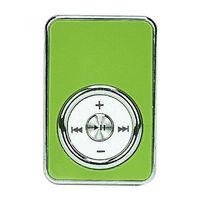 MP3-плеер, клипса, пластик, microSD,  глянцевый, (без кабеля, без наушников), зеленый