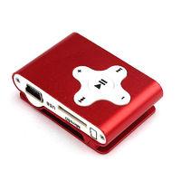 MP3-плеер, клипса, microSD, алюминий, X, красный
