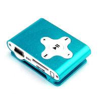 MP3-плеер, клипса, microSD, алюминий, X, голубой