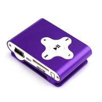 MP3-плеер, клипса, microSD, алюминий, X, фиолетовый