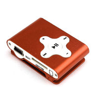 MP3-плеер, клипса, microSD, алюминий, X, оранжевый