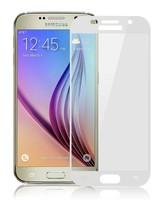 Защитное стекло Samsung Galaxy J7 (2017) на дисплей, с рамкой, белый