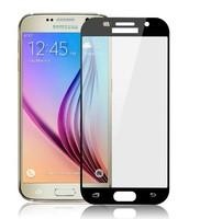 Защитное стекло Samsung Galaxy J7 (2017) на дисплей, с рамкой, черный