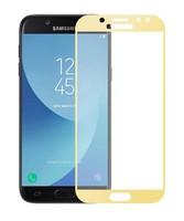 Защитное стекло Samsung Galaxy J7 (2017) на дисплей, с рамкой, золотистый