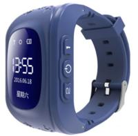 Смарт-часы Q50, детские, Sim, OLED, GPRS, GPS, синий