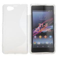 Чехол-накладка на Sony Xperia Z1 compact силикон, S-line, белый
