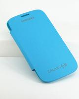 Чехол-книжка на Samsung S3 полиуретан, S-view, голубой