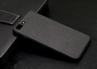 Чехол-накладка на Apple iPhone 6/6S Plus, силикон, под кожу, с вырезом, черный