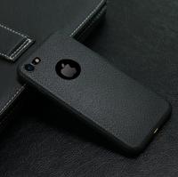 Чехол-накладка на Apple iPhone 7/8 Plus, силикон, под кожу, с вырезом, черный