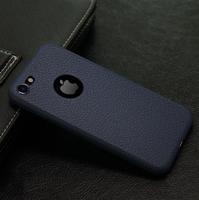 Чехол-накладка на Apple iPhone 7/8, силикон, под кожу, с вырезом, синий