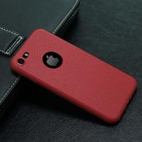 Чехол-накладка на Apple iPhone 7/8 Plus, силикон, под кожу, с вырезом, красный