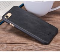 Чехол-накладка на Apple iPhone 7/8/SE2, пластик, под кожу, Mofi, черный