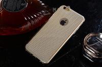 Чехол-накладка на Apple iPhone 7/8 Plus, силикон, блестящий, кристаллы, золотистый