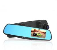 """Видеорегистратор TDS TS-CAR17, зеркало, HD, 2.2"""", черный"""