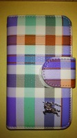 Чехол-книжка на Apple iPhone 4/4S, полиуретан, Burberry, color 1
