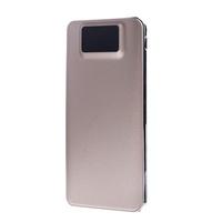Портативный аккумулятор PowerBank 12000mAh, Noname, USB, LCD, золотистый