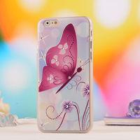 Чехол-накладка на Apple iPhone 6/6S, пластик, стразы, butterfly