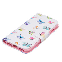 Чехол-книжка на Apple iPhone 7/8/SE2, полиуретан, бабочки