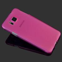 Чехол-накладка на Samsung Galaxy Alpha (G850F) силикон, розовый