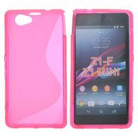 Чехол-накладка на Sony Xperia Z1 compact силикон, S-line, розовый