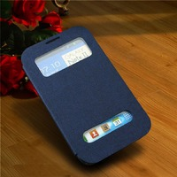 Чехол-книжка на Samsung Note 2 полиуретан, S-view, синий