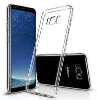 Чехол-накладка на Samsung S8 Plus силикон, ультратонкий, прозрачный