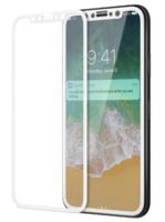 Защитное стекло Apple iPhone X/Xs 3D, на дисплей, серебристый