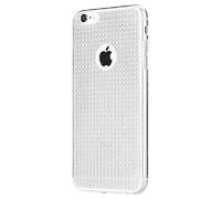 Чехол-накладка на Apple iPhone 6/6S, силикон, блестящий, кристаллы, белый