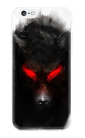 Чехол-накладка на Apple iPhone 6/6S, силикон, colorfull, dark wolf